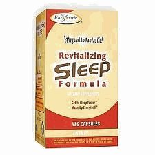 Enzymatic Therapy - Revitalizing Sleep Formula contains Wild Lettuce Extract - 90 Vegetarian Capsules (Revitalizing Sleep Formula)