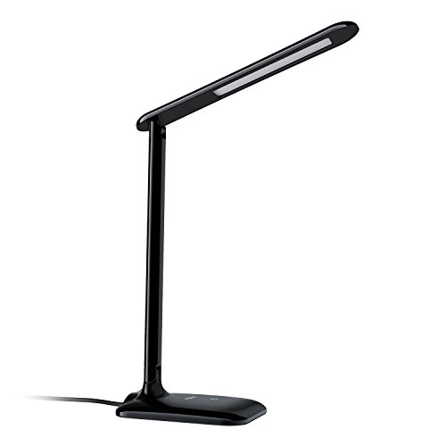 Aglaia LED Desk Lamp 4W, Eye-Care Foldable Table Lamp with Touch Control for 4-Level Dimmer, Suitable for Reading Studying (Black)