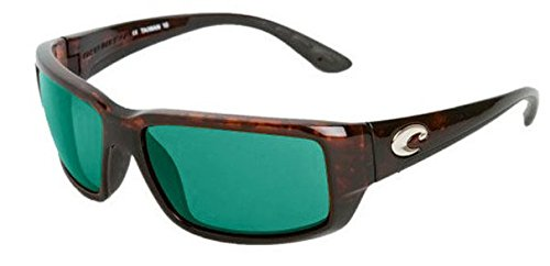 Costa Del Mar Fantail Sunglasses, Tortoise, Green Mirror 580 Plastic - Green Lens Sunglasses