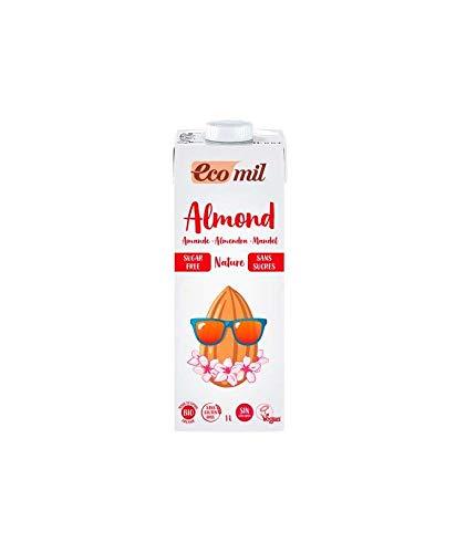Bebida De Almendras Bio Sin Azucar 6 Unidades De 1 Litro De Ecomil