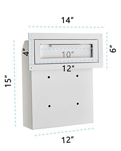 (AdirOffice Through-The-Door Safe Locking Drop Box (White) )