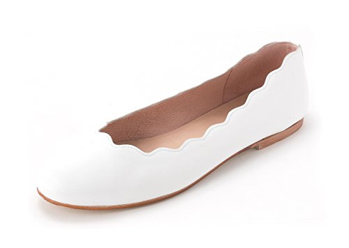 French Sole - Mocasines para mujer White Nappa