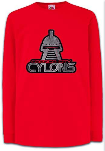 Caprica City Cylons Kids Boys Girls Long Sleeve T-Shirt Battlestar TV Kampfstern Series Galactica Red