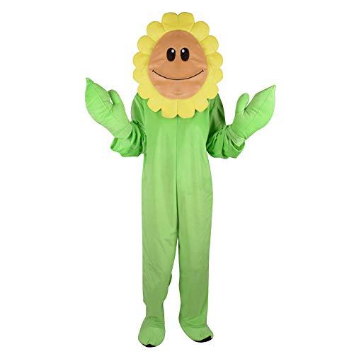 Diy Flower Halloween Costume (Kids Sunflower Costume Green DIY Funny Halloween Party Flower Fancy Dress Childen Vegetable Fruit Cosplay Full Bodysuit Jumpsuits (Kids Sunflower,)