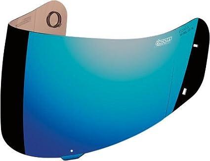 c0b9ebf2 Amazon.com: ICON PROSHIELD MOTORCYCLE AIRFRAME ALLIANCE HELMET SHIELD VISOR  BLUE CHROME: Everything Else