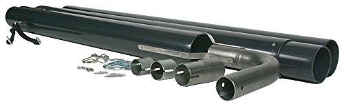 Camco 44461 Black Gen-Turi RV Exhaust Venting System-Reduce Generator Fumes and Noise | Easy to Install and Disconnect