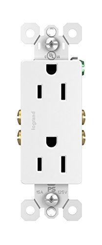 Legrand - Pass & Seymour radiant 885WCP8 15 Amp Duplex Outlet, 10-Pack, White ()