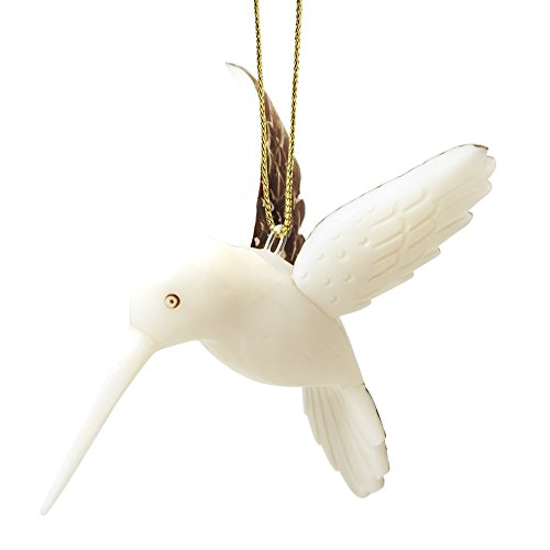 Ten Thousand Villages Tagua Nut Hummingbird Ornament ()
