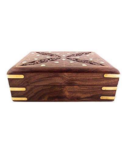 Father #039s Day Gift Handmade Wooden Chest Jewelry Box Trinket Keepsake Storage Box Girls Multipurpose Organizer Chest
