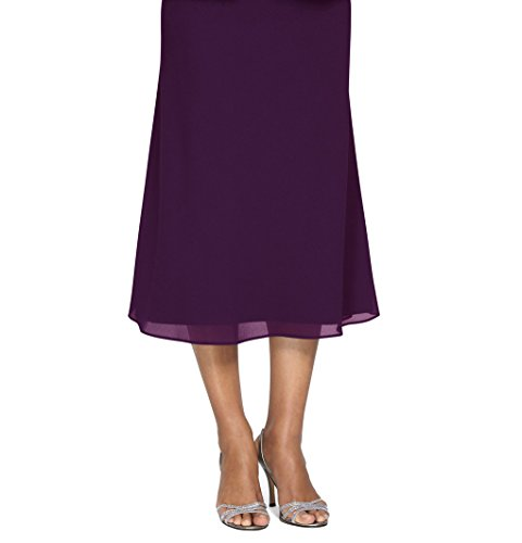 Plus Size Alex Evenings 478077 Skirt --Size: 2x Color: Eggplant