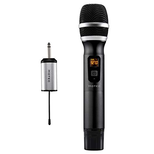 Hotec 25 Channel UHF Handheld Wireless Microphone with Mini Portable Receiver 1/4