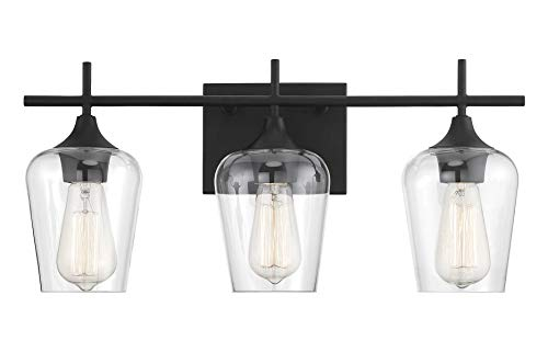 Savoy House 8-4030-3-BK Octave 3-Light Bathroom Vanity Light in a Black Finish -