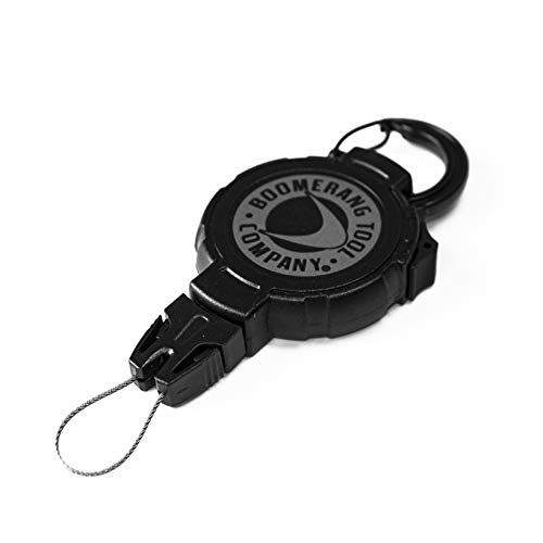 Boomerang Large Scuba Gear Retractor with Carabiner and 48 Retractable Cord, 8oz. Retraction, Great for Gauges, Flashlights, Cameras and More!