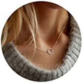 Forevereally Chokers Necklace Layered Pendant product image