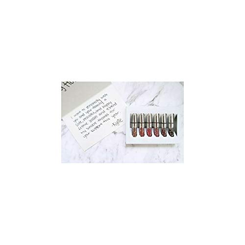 JENNER Birthday Edition - 6PCS Women Long Lasting Lip Gloss Beauty Glaze Matte Liquid Lipstick Makeup Tool Set