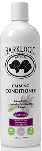 BarkLogic Calming Conditioner, Lavender, 16 fl oz - Grooming Essentials For A Healthy Coat - No Parabens, No Phthalates, No Sulfates, No DEA & PEG, Hypoallergenic, Vegan ()