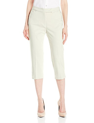 Pant Linen Career (Ruby Rd. Women's Plus-Size Classic Fly Front Double-face Stretch Capri, Linen White 20W)