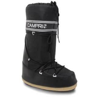 Campri Mens Moon Boots Black 9-10 UK UK: Amazon.co.uk: Shoes & Bags