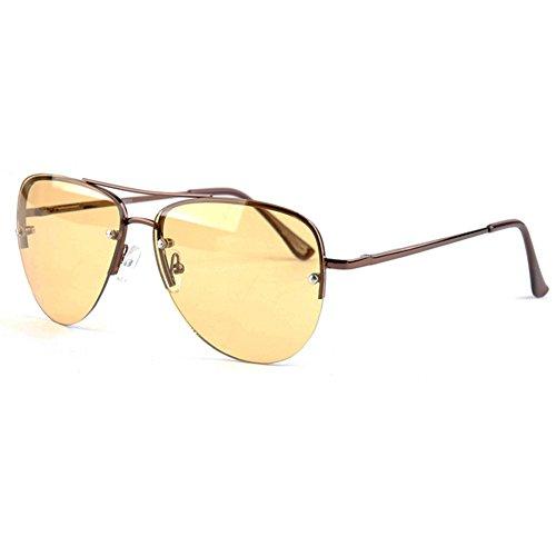 2m² Night View Glasses Antiglare Luminous Driving Glasses Aviator Style Glare Reduction - Aviator Styles