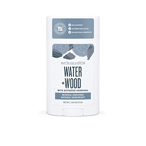Schmidt's Natural Deodorant, Water + Woods Activated Charcoal, 2.65 oz (Pack of 2)
