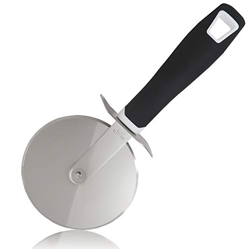 (Zulay Pizza Cutter Wheel - Super Sharp Stainless Steel Pizza Wheel - Premium Pizza Slicer - By Zulay)