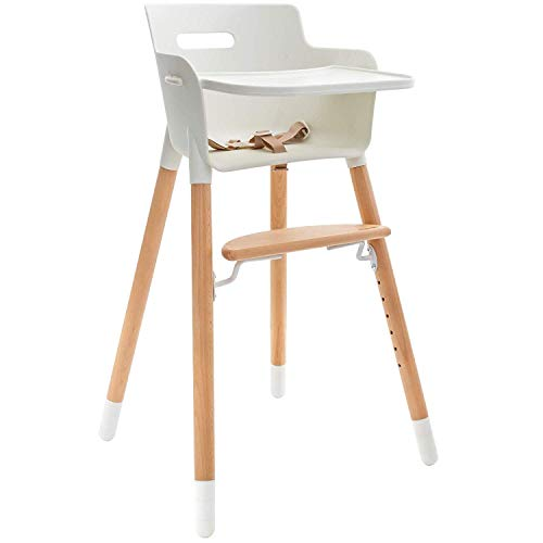Weesprout Wooden High Chair For Babies Toddlers 3 In 1 High Chair Booster Chair Grows With Your Child Adjustable Footrest Legs Removable Tray Armrest Modern Wood Design On Galleon Philippines