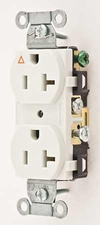 Receptacle, Duplex, 20A, 5-20R, 125V, White