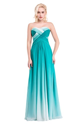 Bridal _ Mall Femme rueckenfrei soir Vêtements Robe Longue de Mousseline Prom Multicolore -  - 34