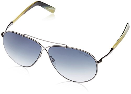 Tom Ford Women's Eva Aviator Sunglasses in Matte Light Ruthenium FT0374 15B - Ford Sunglasses Women Aviator Tom