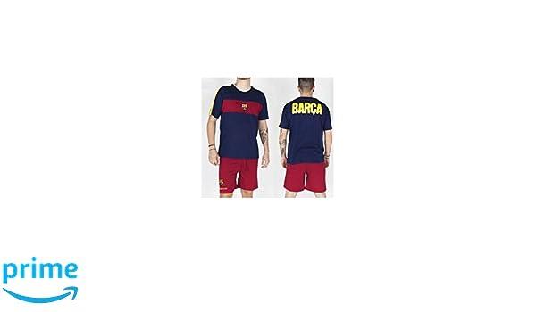 Pijama adulto del Fútbol Club Barcelona verano - L: Amazon.es: Deportes y aire libre