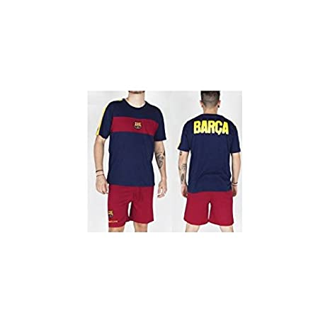 Pijama adulto del Fútbol Club Barcelona verano - L: Amazon.es ...