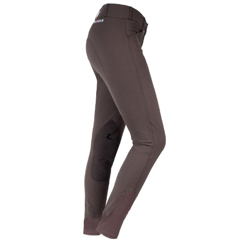 Horze Grand Prix Extended Patch Breeches - Ladies Knee Patch - Size:EU 30R Color: KHAHKI LIGHT (Extended Patch Breech)