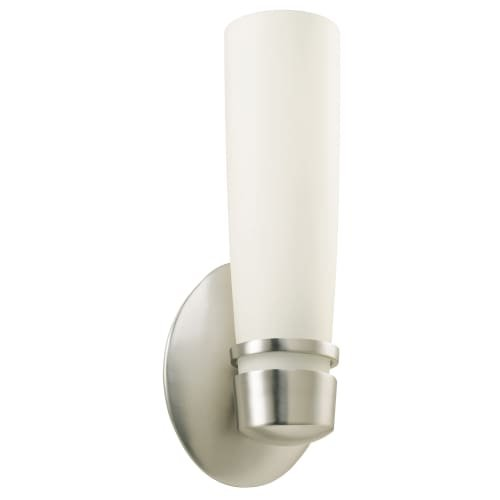 Lighting by AFX ARS118SNEC Aria Sconce, Satin Nickel with Hand-Blown Opal Glass Diffuser