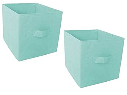 Mainstays Collapsible Fabric Storage Cube, Set Of 2 ( 12.8u0026quot;L X  12.8u0026quot;
