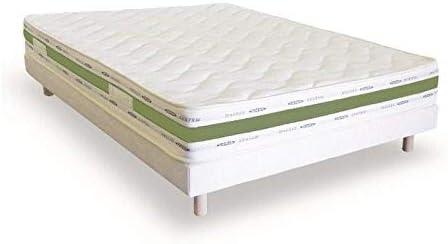 france-matelas Conjunto Literie Bio Látex 140 x 190 colchón + somier