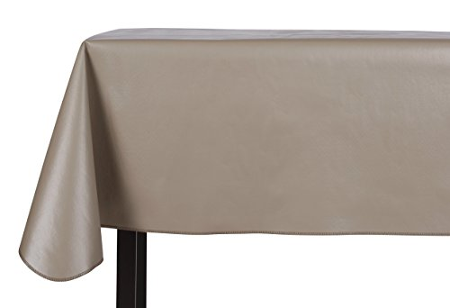 Yourtablecloth Heavy Duty Vinyl Rectangle or Square Tablecloth  6 Gauge Heavy Duty Tablecloth  Flannel Backed  Wipeable Tablecloth with vivid colors & many sizes 52 x 70 Stone