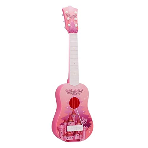RuiyiF Toy Guitar for Toddlers Girls Boys, 6 String Acoustic Guitar with Pick for Beginners Kids/Pink Toddler Guitar Toy for Kids Ages 3-5
