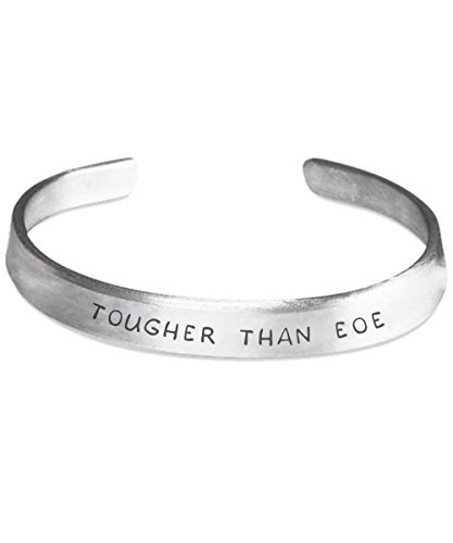 Eosinophilic Esophagitis Awareness Bracelet - Tougher Than EOE - Stamped Bracelets