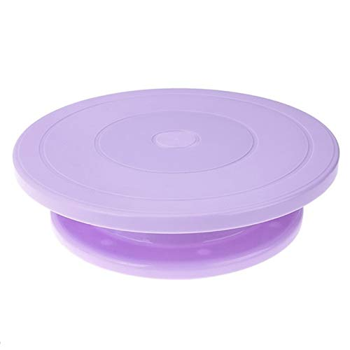 Plastic Cake Plate Turntable Rotating Anti Skid Round Stand Decorating Rotary Table Diy Pan Baking - Cake Molds ()