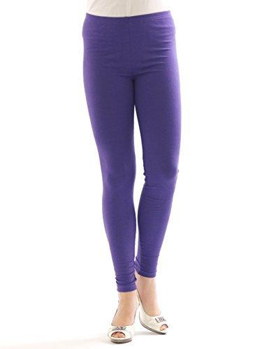 YESET Femme Legging longueur longues caleçons en coton VIOLET L