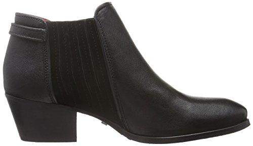Buffalo London Es 30811 Lavato Ante, Zapatillas De Estar por Casa para Mujer Negro