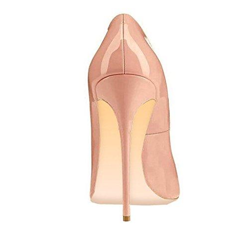 Talon Beige Grande Femmes Ubeauty Taille Rouge Escarpins Stiletto Laçage Soles Aiguille Chaussures FBU1qYRUP