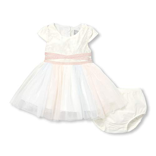 The Children's Place Baby Girls Special Occasion Dress, Snow, 12-18MOS]()