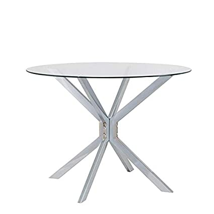 42 inch round dining table wood carolina classic channing 42 inch round dining table chrome amazoncom