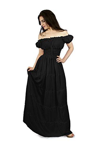 Renai (Black Renaissance Dress)