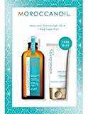 MOROCCANOIL Gift Set Treatment Light Oil 4.2oz / 125ml + Pump & Hand Cream 2.5oz / 75ml