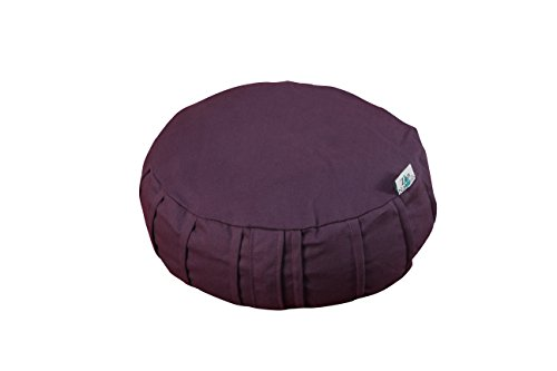 """Zen Naturals Zafu Meditation cushion. Buckwheat filled yoga bolster and floor pillow with minimalist design. 18""""w x 6""""h OR 14""""w x 6""""h. Meditation pillow for all levels. No more achy joints."""