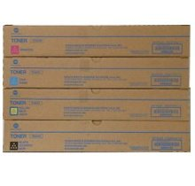KONICA MINIOLTA TN-324 Laser Toner Cartridge Set Black Cyan Magenta Yellow (Cartridges Printer Laser Minolta)