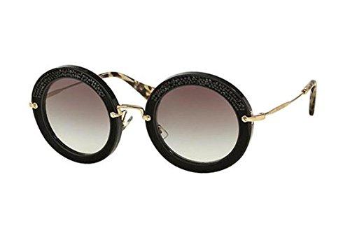 Miu Miu Women's 0MU 08RS Black/Grey Gradient - Eyewear Miu 2016 Miu