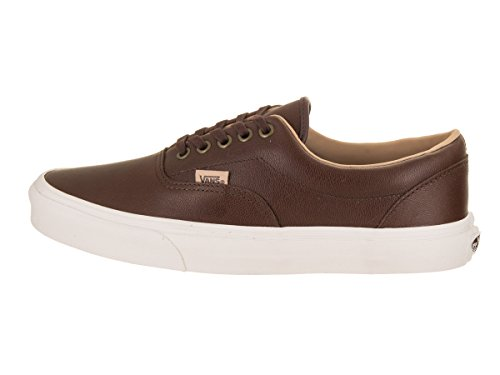 Vans Unisex Era (Lux Leder) Skateschuh Rasierte Schokolade / Steinpilze